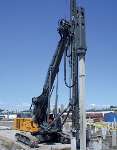 THE LX HYDRAULIC PILE DRIVING HAMMER